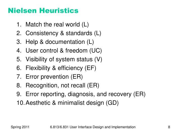 Nielsen Heuristics