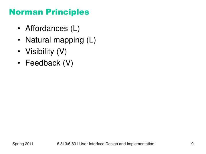 Norman Principles