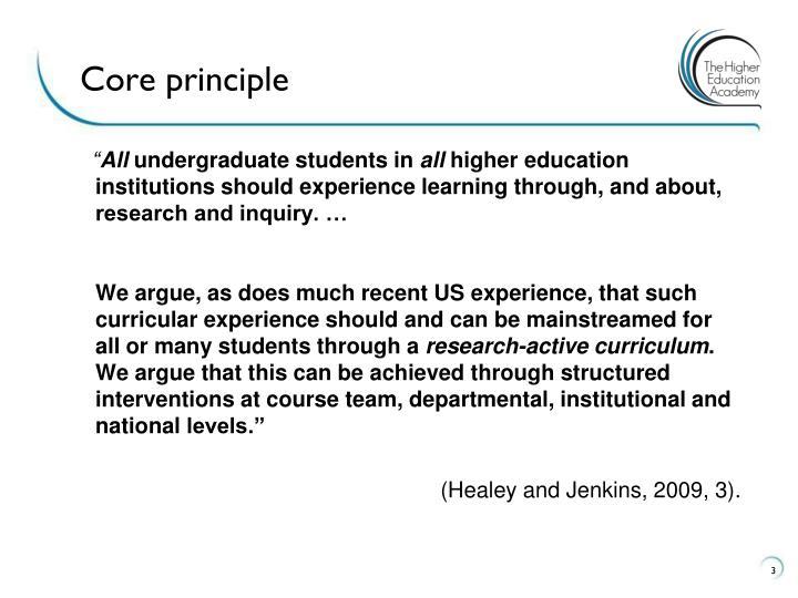 Core principle