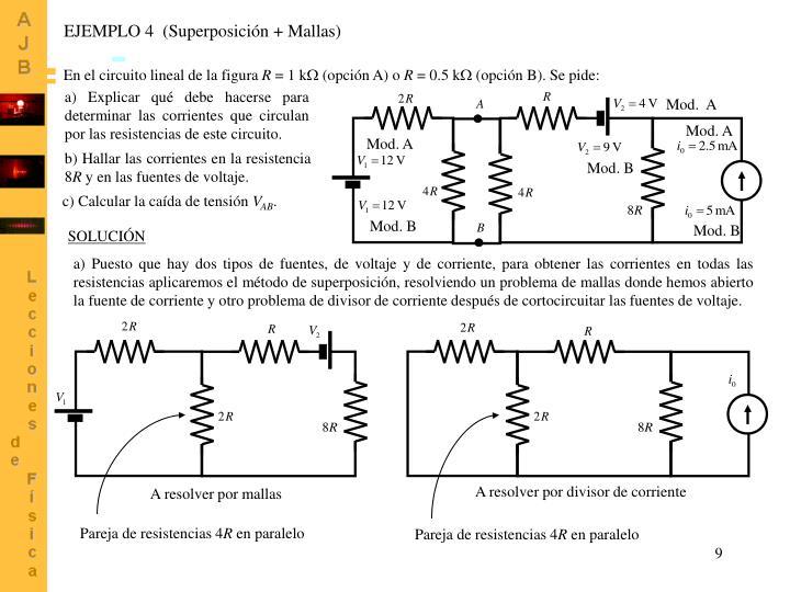 EJEMPLO 4  (Superposición +