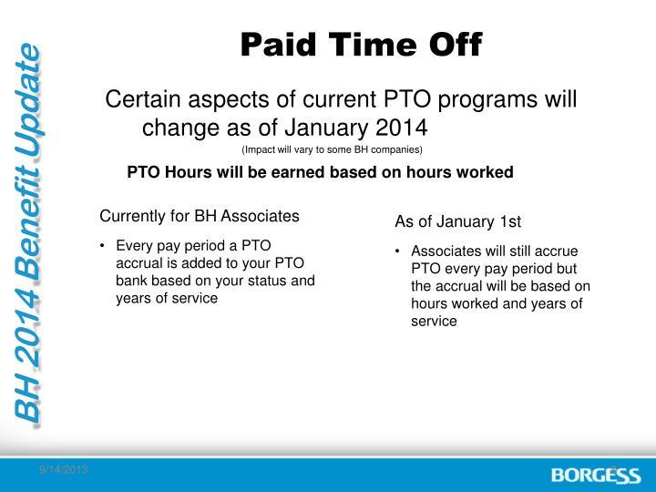 BH 2014 Benefit Update