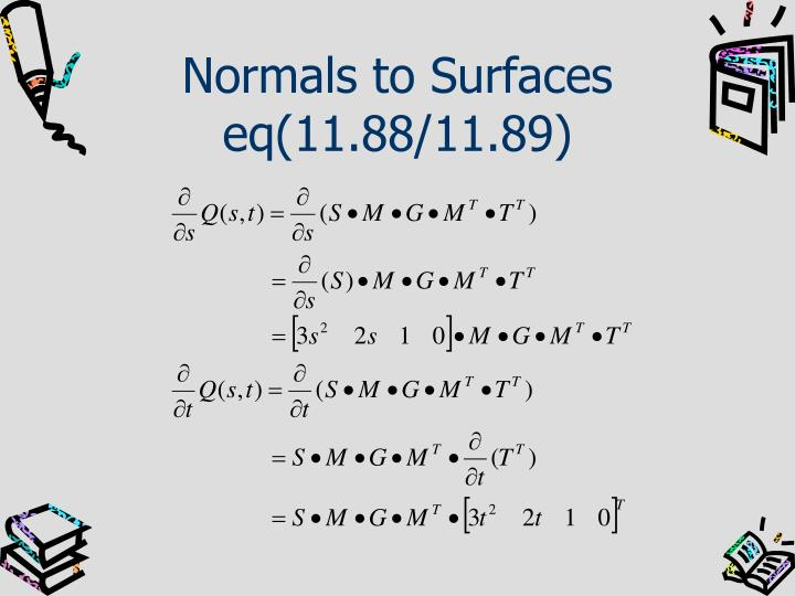 Normals to Surfaces
