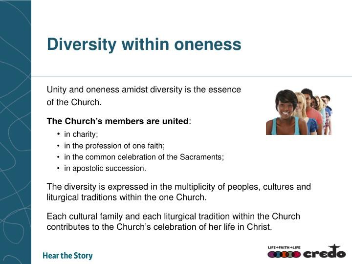 Diversity within oneness