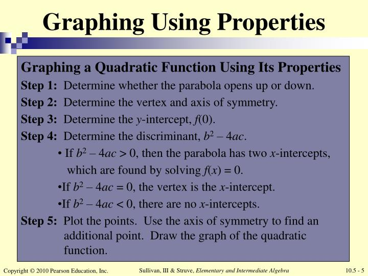 Graphing Using Properties