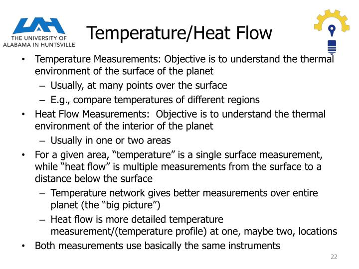 Temperature/Heat Flow