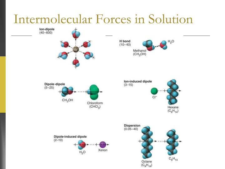 Intermolecular Forces in Solution