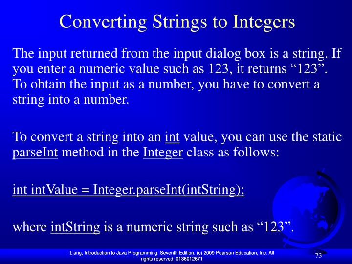 Converting Strings to Integers