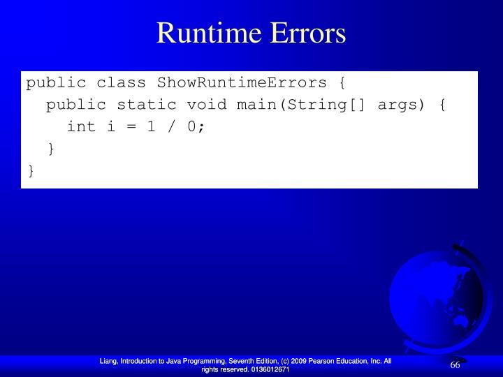Runtime Errors