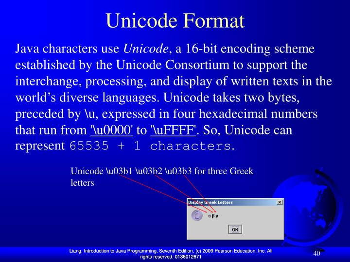 Unicode Format
