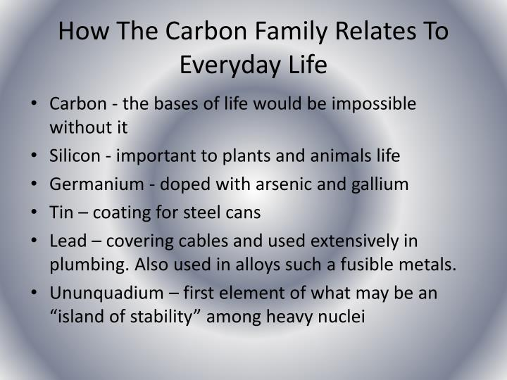 How The Carbon Family Relates To Everyday Life