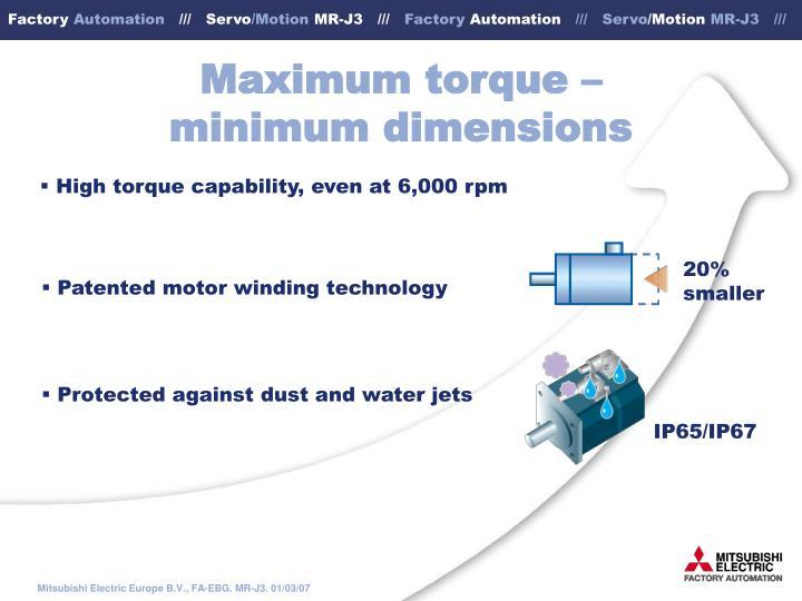 Maximum torque –