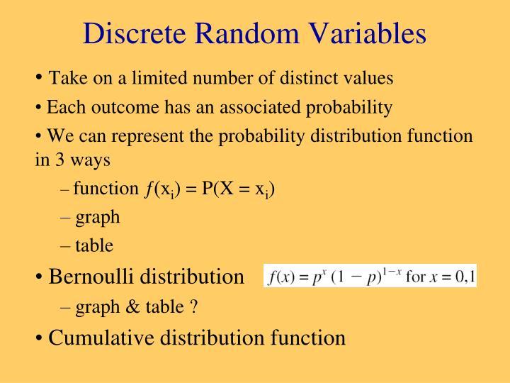 Discrete Random Variables