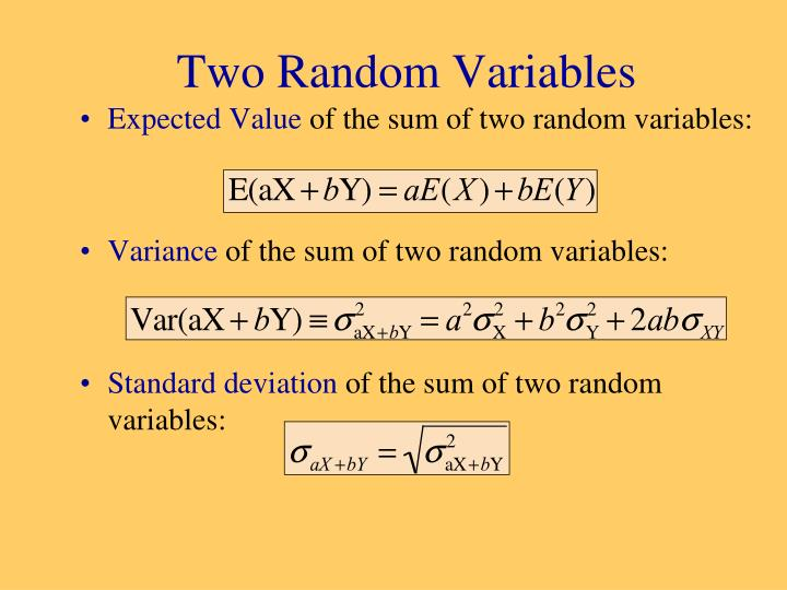 Two Random Variables
