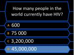 how many people in the world currently have hiv1