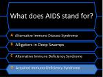 what does aids stand for1
