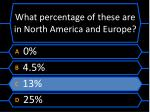 what percentage of these are in north america and europe1