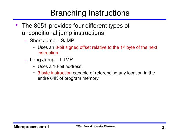 Branching Instructions