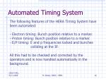 automated timing system