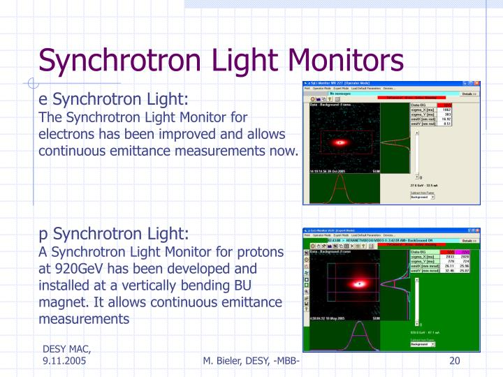 Synchrotron Light Monitors