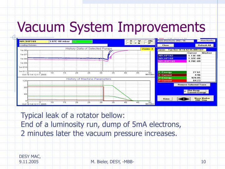 Vacuum System Improvements