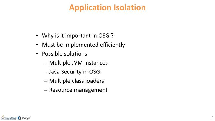 Application Isolation