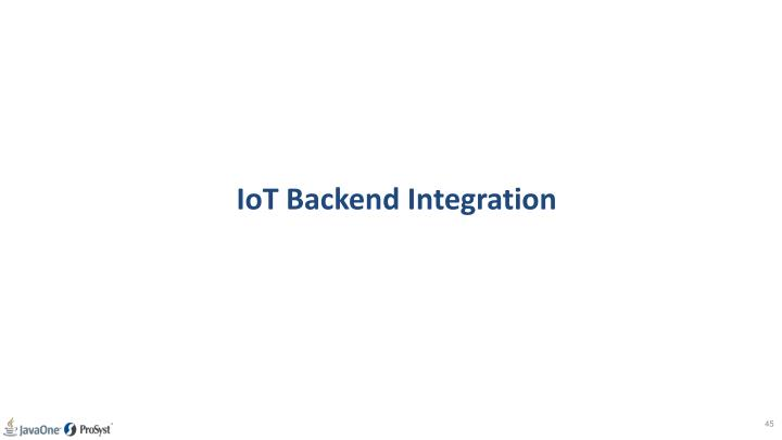 IoT Backend Integration