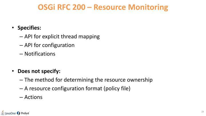 OSGi RFC 200 –