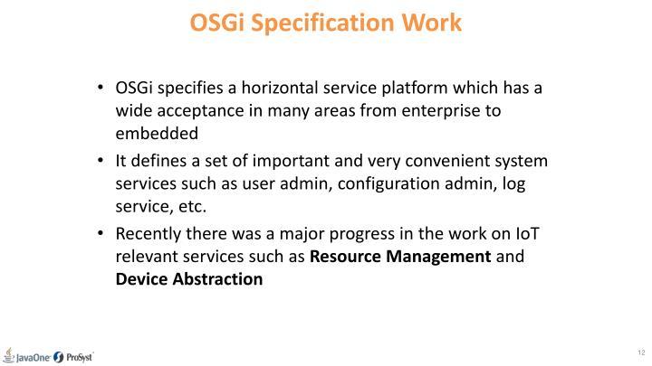 OSGi Specification