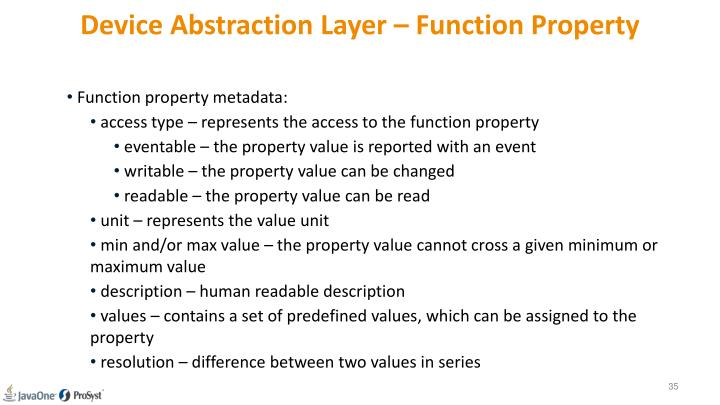 Device Abstraction Layer – Function Property