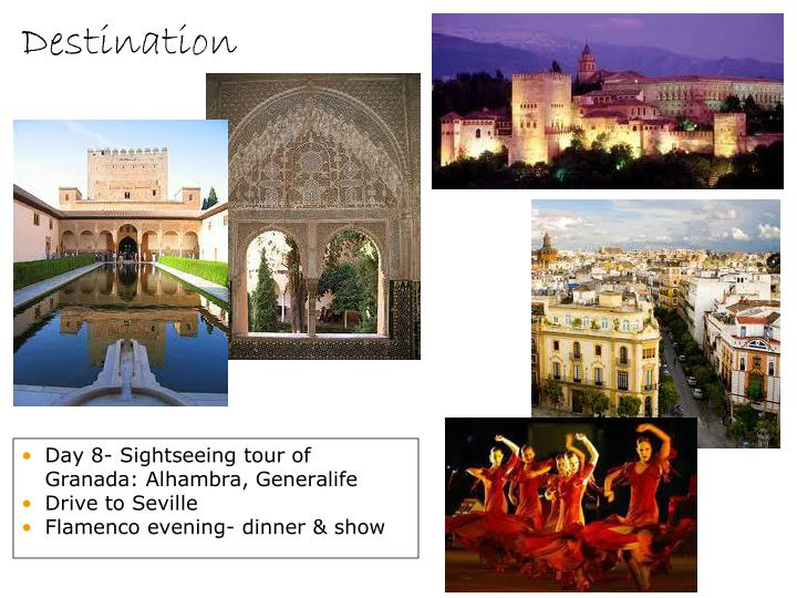 Day 8- Sightseeing tour of Granada: Alhambra, Generalife