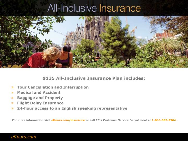 $135 All-Inclusive Insurance Plan includes: