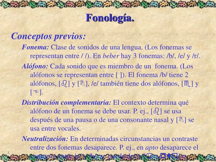 Fonología.