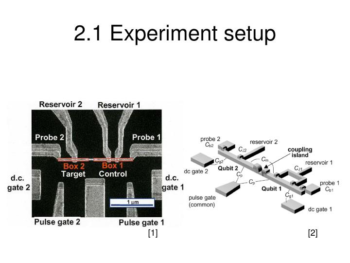 2.1 Experiment setup