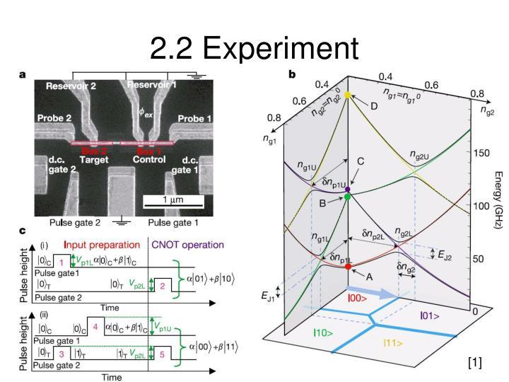 2.2 Experiment