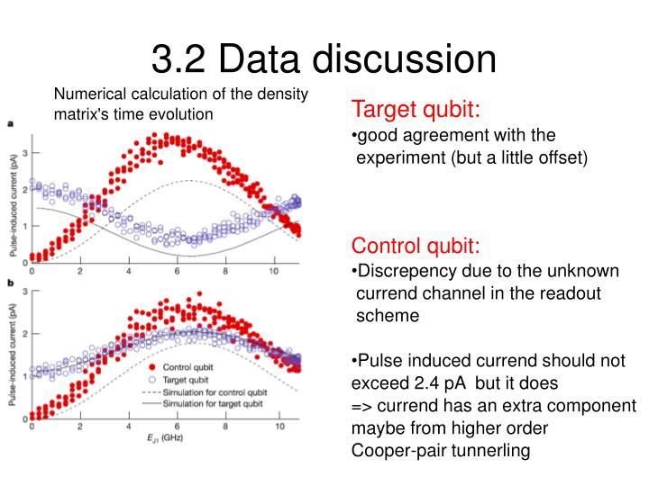 3.2 Data discussion