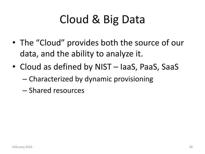 Cloud & Big Data