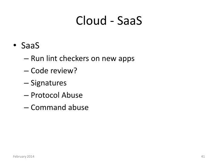 Cloud - SaaS