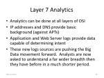 layer 7 analytics