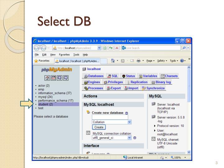 Select DB