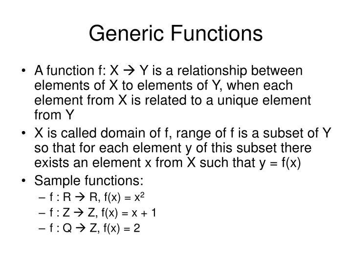 Generic Functions