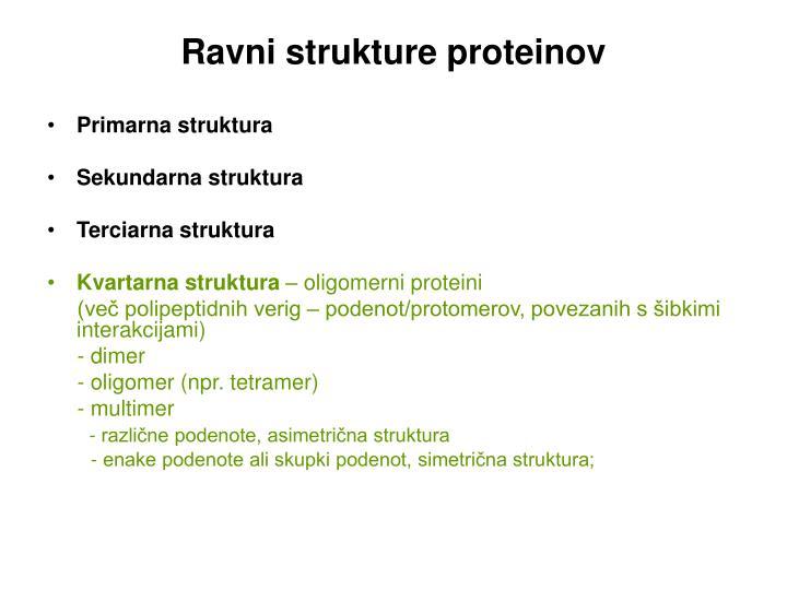 Ravni strukture proteinov