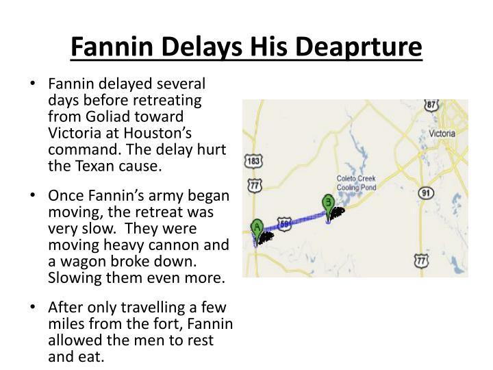 Fannin Delays His Deaprture
