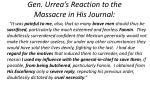 gen urrea s reaction to the massacre in his journal