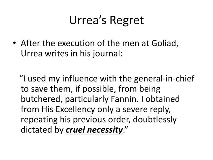 Urrea's Regret