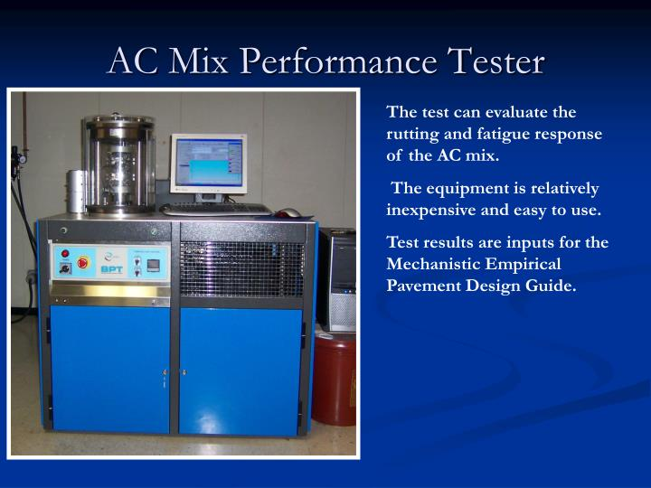 AC Mix Performance Tester