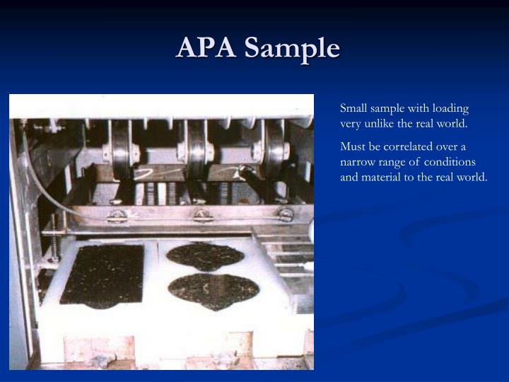 APA Sample