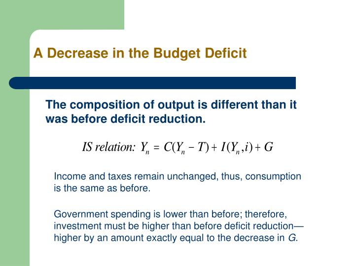A Decrease in the Budget Deficit
