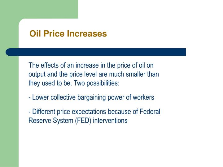 Oil Price Increases
