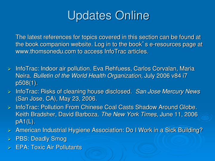 Updates Online