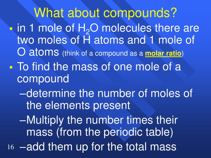 What about compounds?